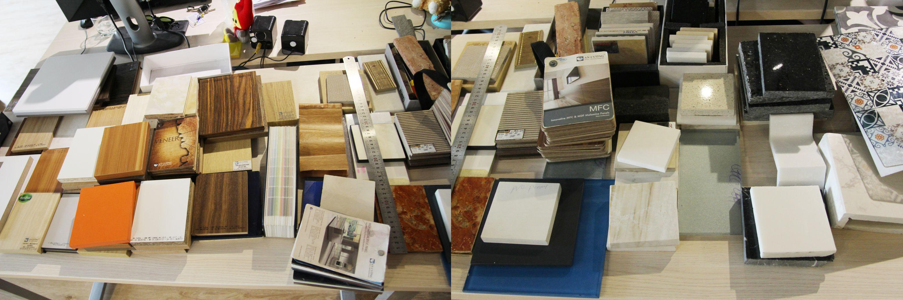 Hình ảnh mẫu vật liệu gỗ công nghiệp