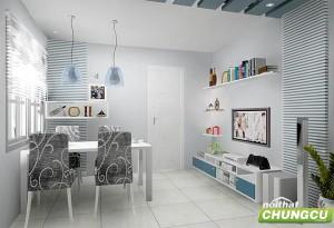Thiết kế nội thất chung cư 40m2 đẹp, cá tính