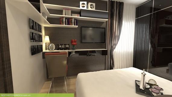 thiet ke noi that SCC Trung Dong plaza phòng ngủ