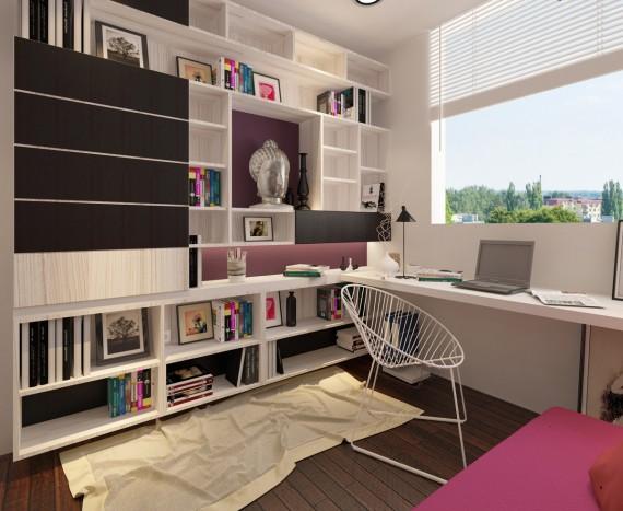 Thi công nội thất chung cư Belleza, Q7 - căn hộ Anh Nguyên