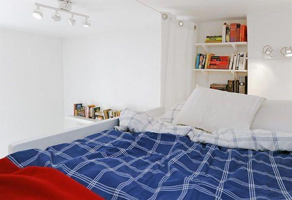 Thiết kế căn hộ 17m2 của chàng trai độc thân mê sách
