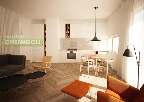 Thiết kế nội thất chung cư An Phú - chị Hoàng