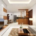 Thiết kế nội thất chung cư Petroland diện tích 80m2