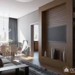 Thiết kế nội thất hai phòng ngủ cho căn hộ 75m2