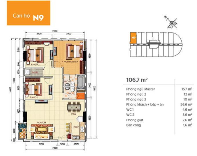 Thiết kế nội thất chung cư Phúc Yên