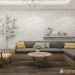 Thiết kế nội thất căn hộ 48m2 – Anh Hà