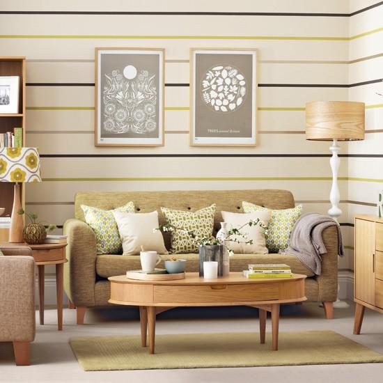 những phòng khách theo phong cách retro