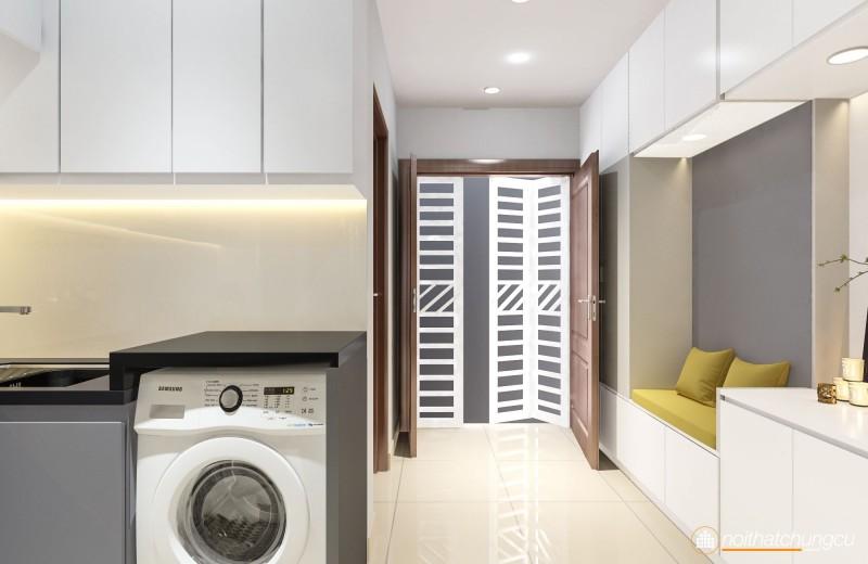 Thiết kế nội thất chung cư Topaz Garden 57m2