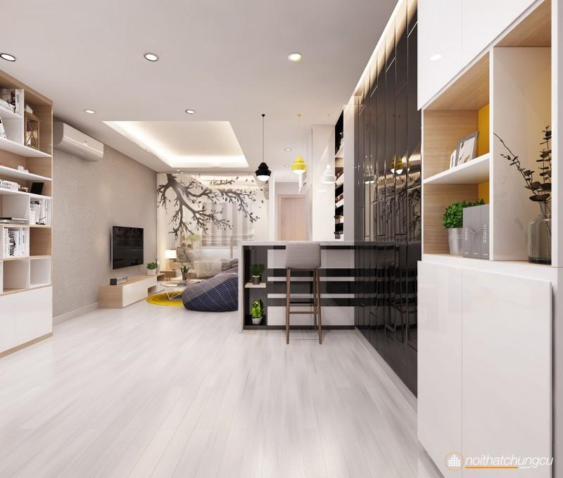 Thiết kế nội thất chung cư 8X Đầm Sen 45m2