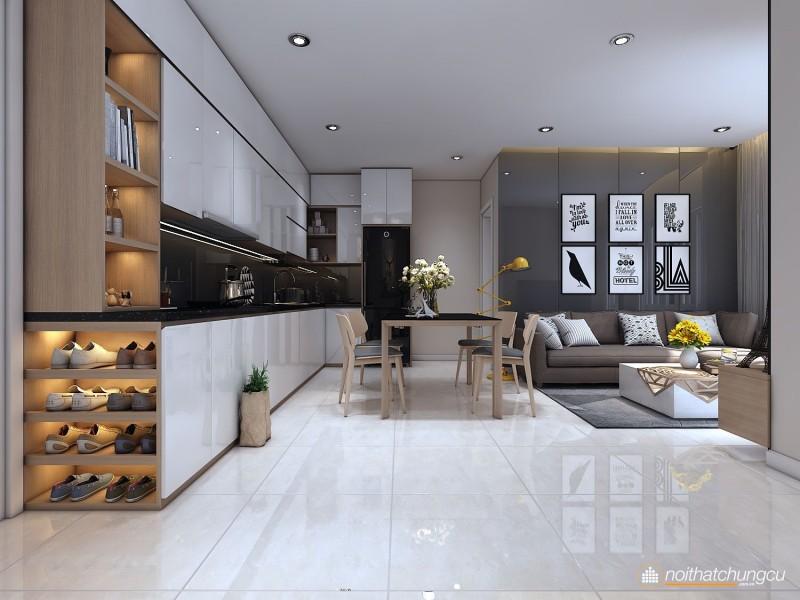 Thiết kế nội thất chung cư Masteri Thảo Điền 65m2