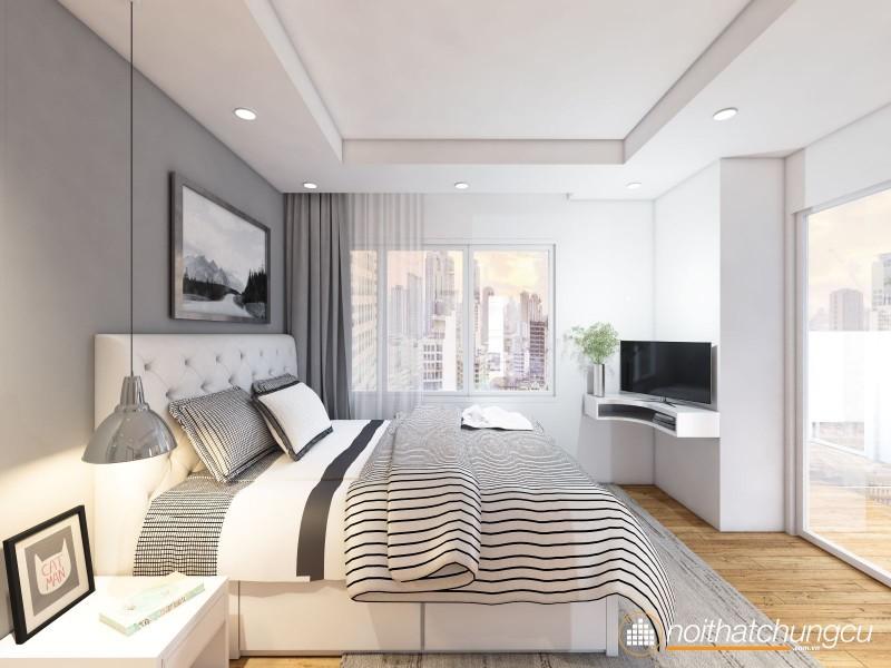 Mẫu thiết kế nội thất chung cư 97m2 hiện đại
