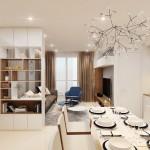 Thiết kế nội thất chung cư Sarimi Sala 83m2 – chị Dung