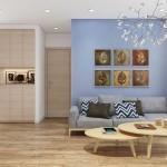 Thiết kế nội thất chung cư Masteri T3-04A 66m2 – Cô Hà