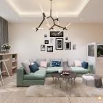 Thiết kế nội thất chung cư Giai Việt 115m2 – Chị Thu