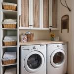 Ý tưởng thiết kế phòng giặt thiết thực và gọn gàng