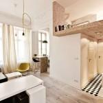 Thiết kế gác lững hiện đại cho căn hộ nhỏ