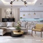 Thiết kế nội thất chung cư 143m2 Vinhomes Central Park – Chị Tuyết