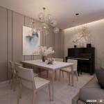Thiết kế nội thất chung cư Him Lam Chợ Lớn 77m2 – Anh Long