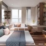 Thiết kế nội thất chung cư 77m2 Him Lam Chợ Lớn – Anh Dũng