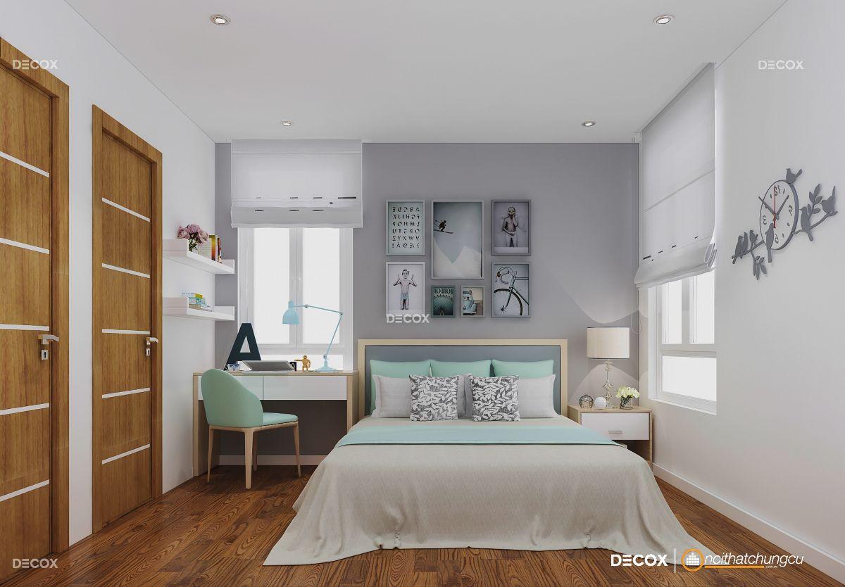 Thiết kế nội thất chung cư Him Lam Riverside 72m2