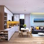 Thiết kế nội thất chung cư 65m2 Masteri Thảo Điền – Anh Trí