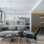 Thiết kế nội thất căn hộ duplex 131m2 Masteri Thảo Điền – Chị Trang