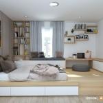 Thiết kế nội thất chung cư Splendor 81m2 – Anh Nhật
