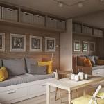 Mẫu thiết kế nội thất căn hộ chung cư dưới 50m2 nhỏ xinh