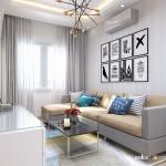 Thiết kế nội thất chung cư 57m2 Idico – Anh Tuấn