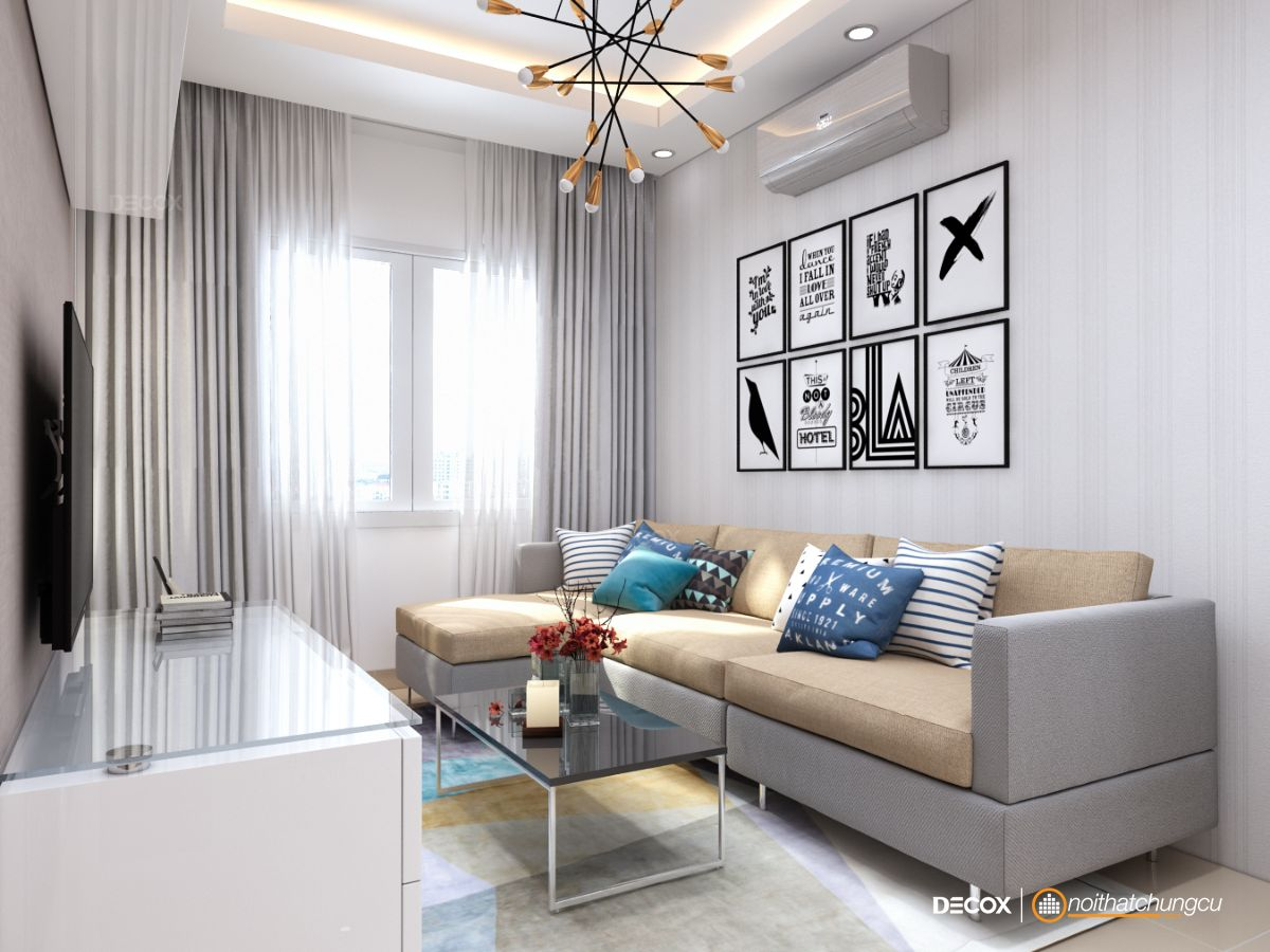 Thiết kế nội thất chung cư 57m2 Idico