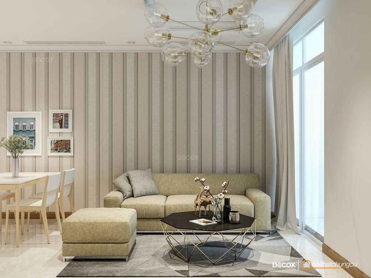 Thiết kế nội thất chung cư 72m2 Vinhomes Central Park