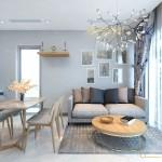 Thiết kế nội thất chung cư 65m2 Vinhomes Central Park – Chị Thịnh
