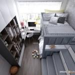 Thiết kế nội thất chung cư 80m2 Vinhomes Central Park – Anh Thạch