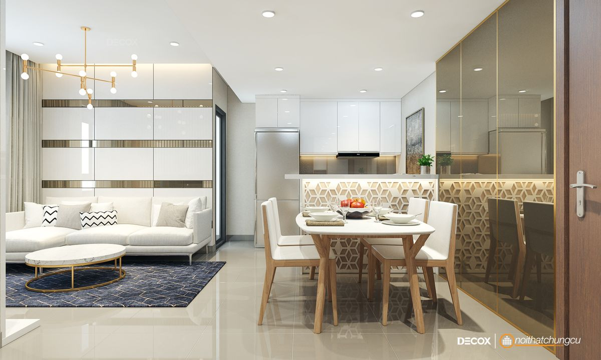 Thiết kế nội thất chung cư Masteri 68m2