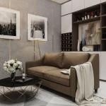 Thiết kế nội thất chung cư 46m2 Vinhomes Central Park – Chị Châu