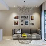 Thiết kế nội thất chung cư Masteri 60m2 – Chị Dung