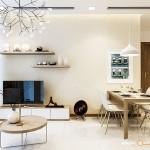 Thiết kế nội thất chung cư 62m2 Vinhomes Central Park – Chị Hà