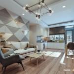 Thiết kế nội thất chung cư Belleza 67m2 – Anh Sang