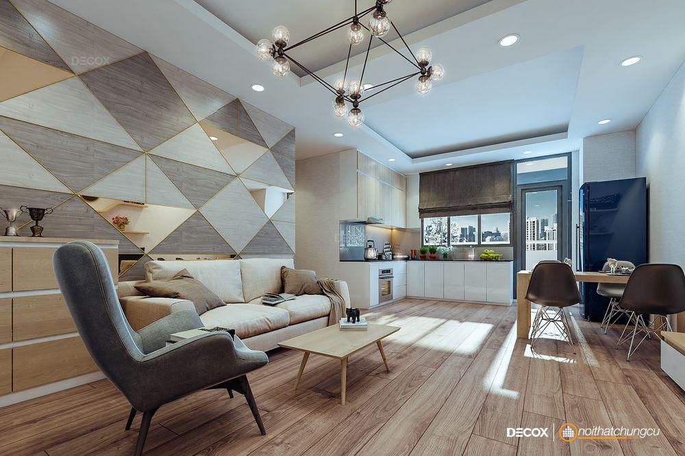 Thiết kế nội thất chung cư Belleza 67m2
