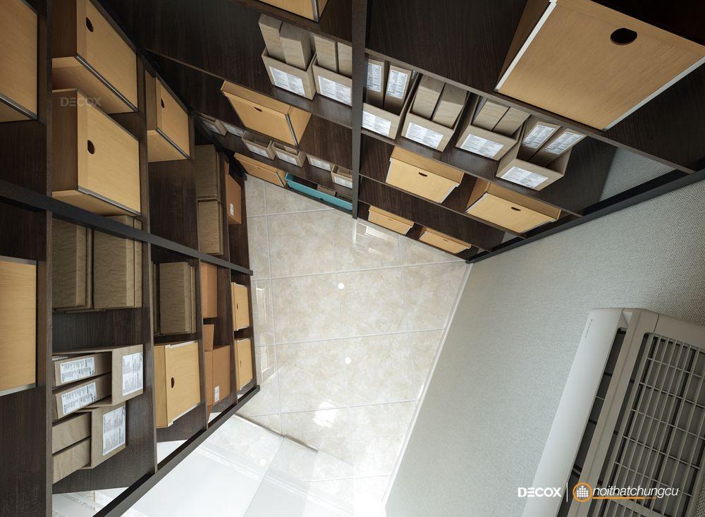 Thiết kế nội thất căn hộ officetel Everrich Infinity 44m2