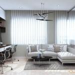 Thiết kế nội thất căn hộ officetel Everrich Infinity 44m2 – Anh Vương
