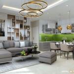 Thiết kế nội thất căn hộ chung cư 103m2 Everrich Infinity – Anh Vương