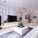 Thiết kế nội thất chung cư 120m2 Sky Center – Anh Công