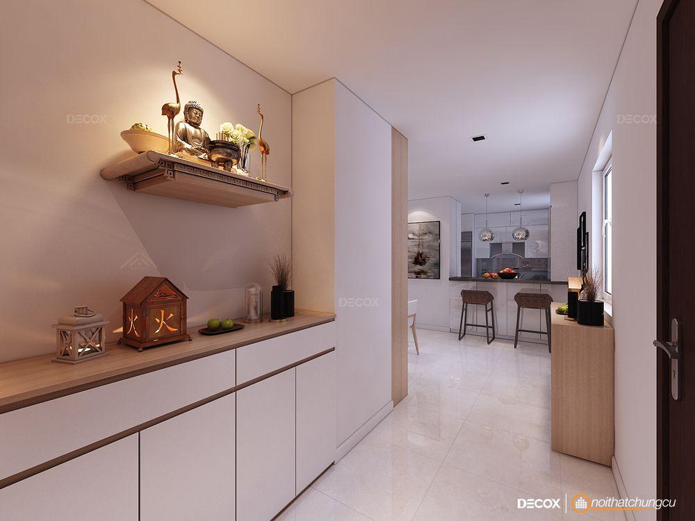 Thiết kế nội thất chung cư 120m2 Sky Center