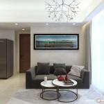 Thiết kế nội thất chung cư Masteri Thảo Điền 68m2 – Chị Phương