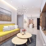 Thiết kế nội thất chung cư 70m2 Topaz Center – Anh Thái