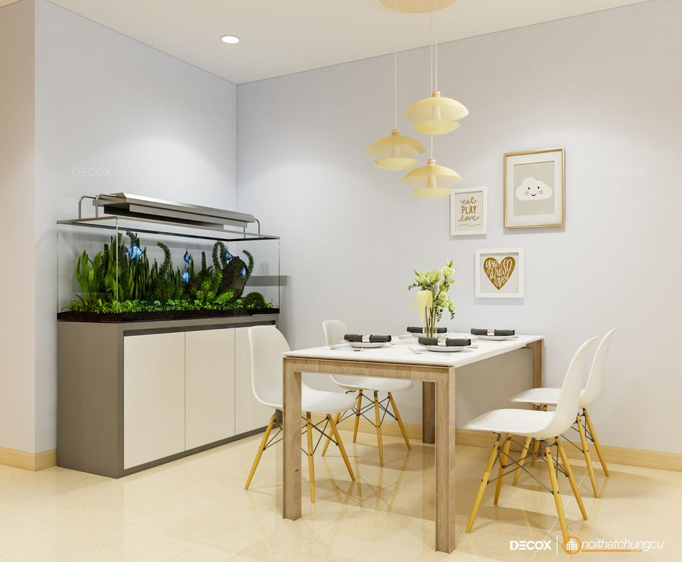 Thiết kế nội thất chung cư 71m2 Saigonres