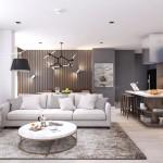 Thiết kế nội thất căn hộ chung cư 85m2 Everrich Infinity – Chị Liên