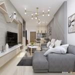 Thiết kế nội thất chung cư Saigonres 66m2 – Anh Quang