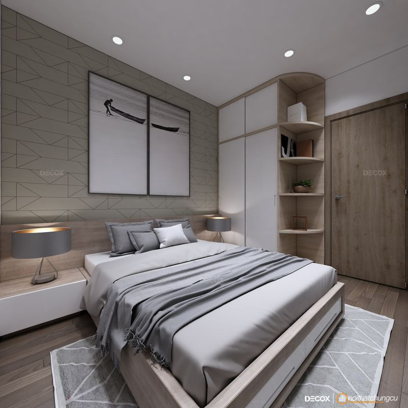 Thiết kế nội thất chung cư Saigonres 66m2